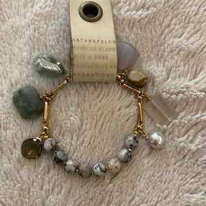 Anthropologie bracelet with various stones